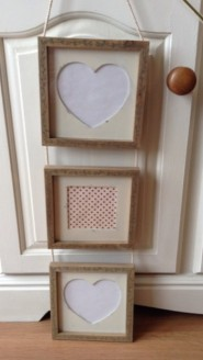 Wooden Triple Photo Frame